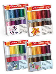 gutermann embroidery 10 spool thread gift pack