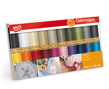 gutermann cotton 20 spool thread gift pack