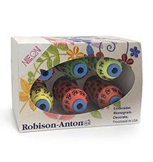 robison-anton embroidery thread neon gift pack