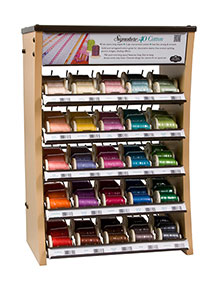 signature cotton quilting thread counter curve display