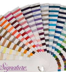 signature cotton quilting thread fan deck color swatch